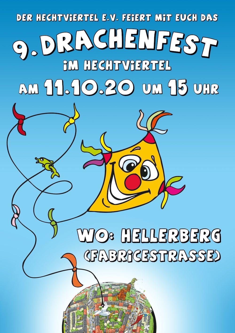 Plakat Drachenfest 2020 auf dem Hellerberg